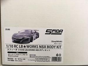 LB☆WORKS NISSAN R35 GT-R NISSAN ボディキット SFIDA 1/10 (未塗装) GT-Rボディセット +タミヤ (未塗装)